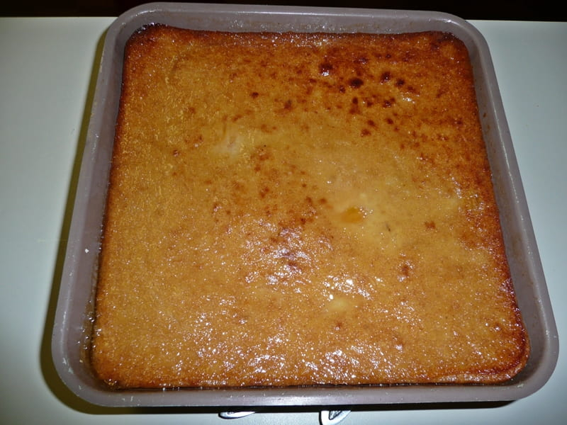 pan of persimmon pudding