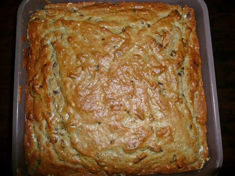 pan of persimmon bread
