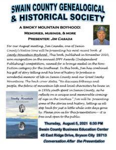 Swain County Historical Society Event
